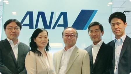 ANAグループのセキュリティ対策メンバー。列中央がANAシステムズの品質・セキュリティ管理部 阿部恭一エグゼクティブマネージャ