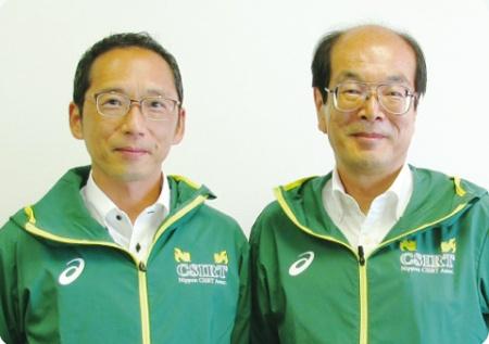 大成情報システムの葛原徹インフラ運用部長(左)と大成建設の情報企画部北村達也専任部長(右)