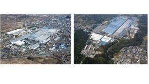 図:仙台工場(左)と桑名工場(右)
