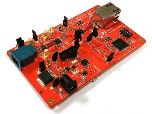 評価モジュールの「DP83TC811EVM」。TIの写真