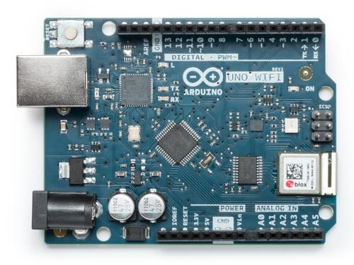 「Uno WiFi Rev 2」。Arduino Foundationの写真