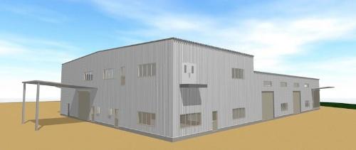 図:第2工場の完成予想図
