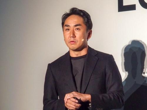 写真1●LINE 代表取締役社長CEOの出澤剛氏(撮影:山口 健太、以下同じ)