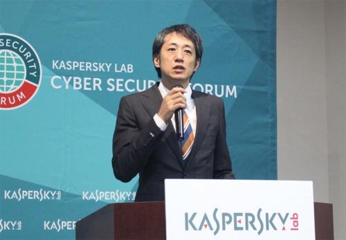 カスペルスキー 代表取締役社長の川合林太郎氏(撮影:大類 賢一、以下、同じ)