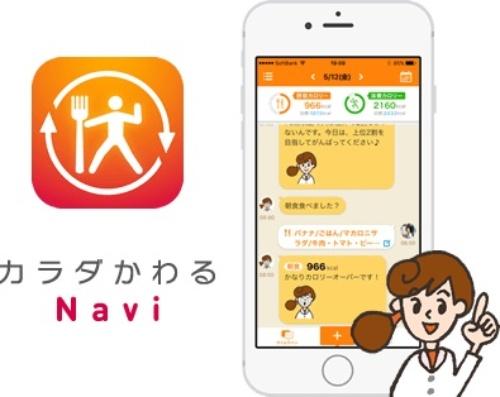 「カラダかわるNavi」画面イメージ(プレスリリースより)