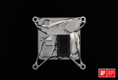図 デンソーがジェネレーティブデザインで作成した次世代ECUのコンセプトモデル