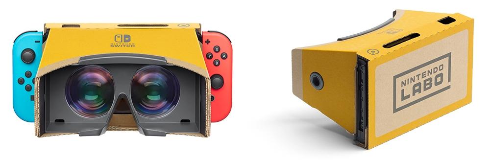 「Nintendo Labo: VR Kit」に含まれる段ボール製ケース「VRゴーグルToy-Con」にNintendo SwitchをセットするとVR用HMDとなる (出所:任天堂)