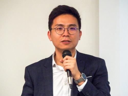 写真2●中国Mobvoi Head of the Smart Wearable Business Unit Vice President of Productの林宜立氏