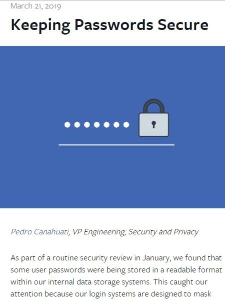 ユーザーのパスワードを暗号化せずに保存していたことに関する発表