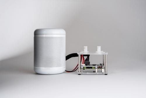 「Qualcomm Smart Audio Platform 400」。Qualcommの写真
