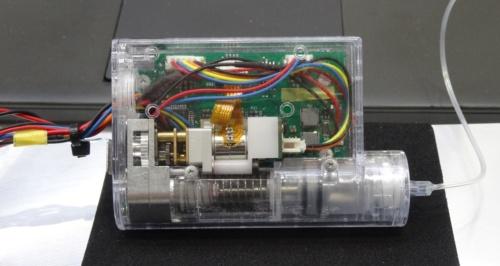 微量送液ポンプモジュールの試作品