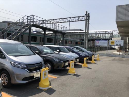 福島県いわき市のJRいわき駅前に設置したタイムズ24のカーシェア拠点