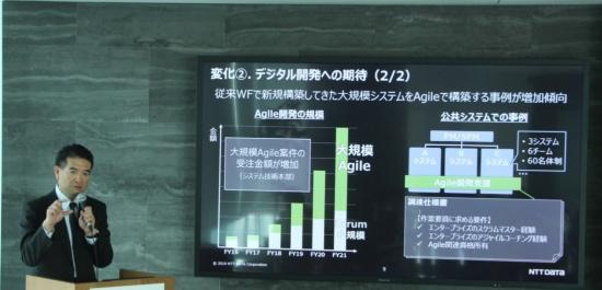 取り組みを説明したシステム技術本部の冨安寛本部長