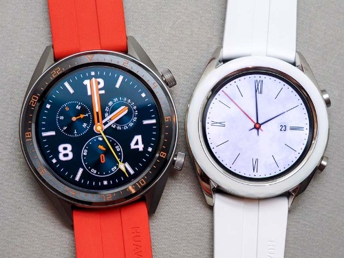HUAWEI WATCH GT 46mm(左)と42mm(右)