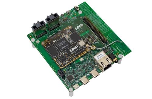 今回の新製品は、NXPのi.MX 8M Mini向けの評価キット「i.MX 8M Mini EVK」に搭載されている。NXPの写真