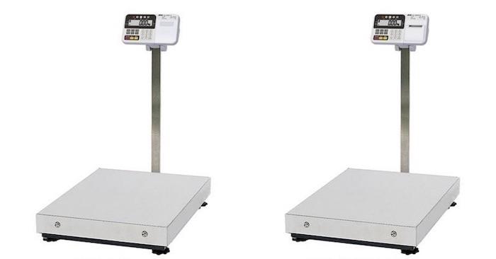 図1:「HV-C-K」シリーズの大型モデル 左が標準タイプの「HV-300/600KC-K」、右がプリンター内蔵タイプの「同300/600KCP-K」。(出所:エー・アンド・デイ)