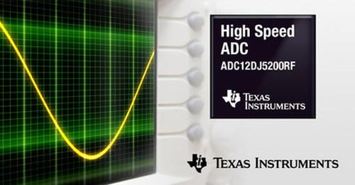 最大サンプリング速度が10.4Gサンプル/秒と高い12ビットA-D変換器IC。TIのイメージ