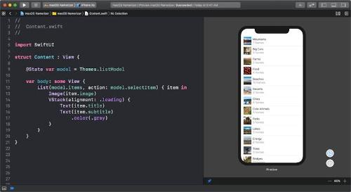 XcodeとSwiftUIを使ってコードを書かずにUIを開発