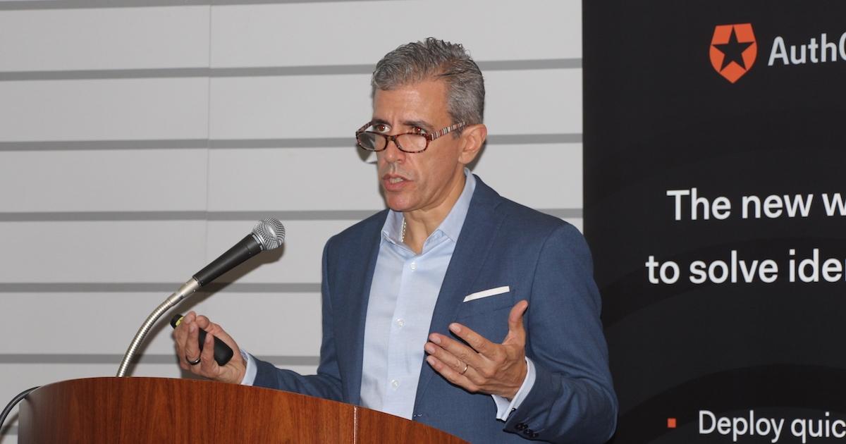 日本でのビジネス拡大方針を説明した米オースゼロのユヘニオ・ペースCEO(最高経営責任者)