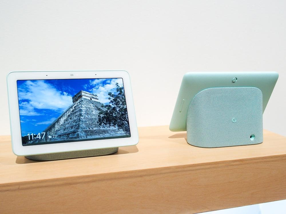 写真1●グーグルが「Google Nest Hub」を国内発表 (撮影:山口 健太、以下同じ)