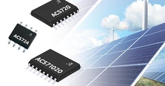 太陽光発電システムに向けた電流センサーIC。Allegro MicroSyetemsのイメージ