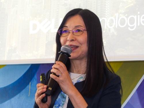 写真2●デルの山田千代子常務執行役員クライアント・ソリューションズ統括本部長