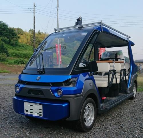 茨城交通が実証実験に使うヤマハ発動機製の電動カート型自動運転車両