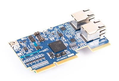開発キットの「TMDSCNCD28388D」。TIの写真
