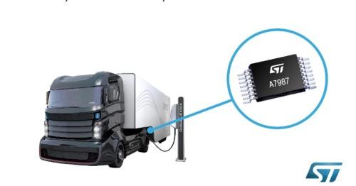 入力電圧範囲が+4.5〜61Vと広い降圧型DC-DCコンバーターIC。STMIcroelectronicsのイメージ