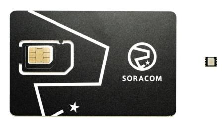 「SORACOM IoT SIM」で提供するSIM