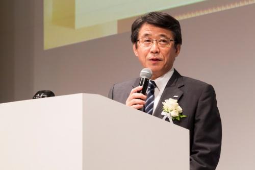 「IT Japan 2019」の基調講演に登壇したANAホールディングス(ANAHD)の片野坂真哉社長
