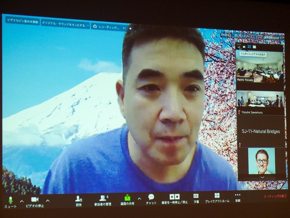 写真1●米Zoom Video Communications創業者兼CEOのEric Yuan氏 (撮影:山口 健太、以下同じ)