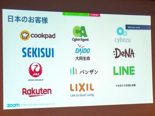 写真6●国内のZoom導入企業