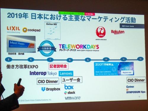写真8●Zoomの国内マーケティング活動