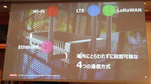 「ThinkCentre M90n-1 Nano IoT」は4つの通信方式に対応する