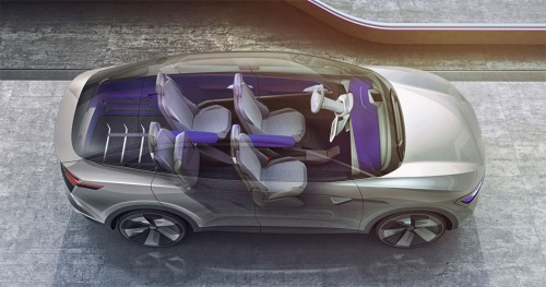 電動SUVの「ID. CROZZ」。1回の充電で500kmを走行する。