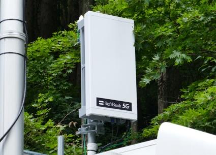 ソフトバンクの5Gプレサービス用のアンテナ