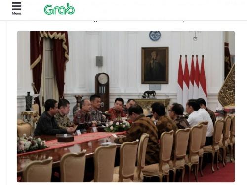 インドネシアのジョコ大統領と会談するソフトバンクGの孫正義会長兼社長