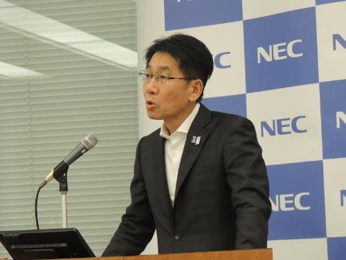 NECの森田隆之CFO(最高財務責任者)