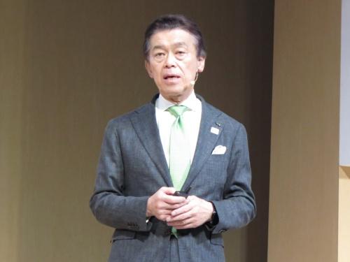 「Google Cloud Next '19 in Tokyo」の基調講演に登壇したJR東日本の小県方樹副会長
