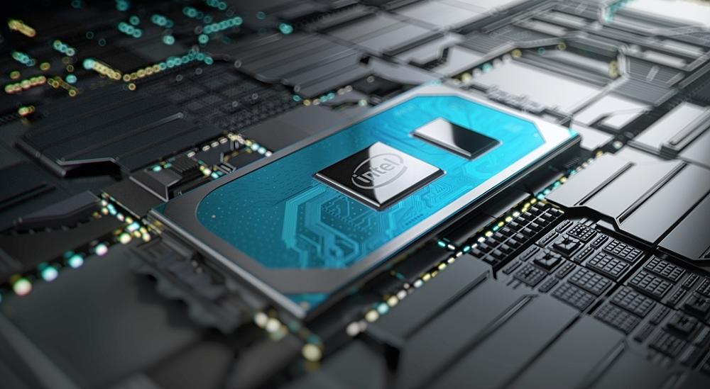新製品(中央)のメインボード搭載イメージ。Intelのイメージ