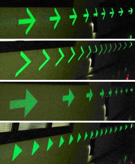 図2:使用イメージ2 工場や駐車場で進路を示す。(出所:大日本印刷)