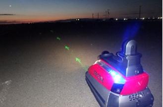 図3:使用イメージ1 セコムの自律走行型監視ロボット「セコムロボットX2」に搭載。(出所:大日本印刷)