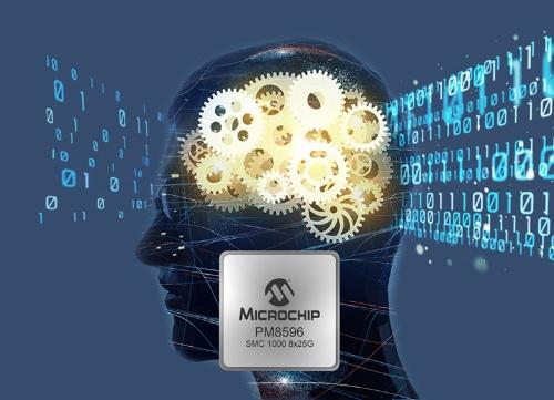 新製品と応用イメージ。Microchipのイメージ