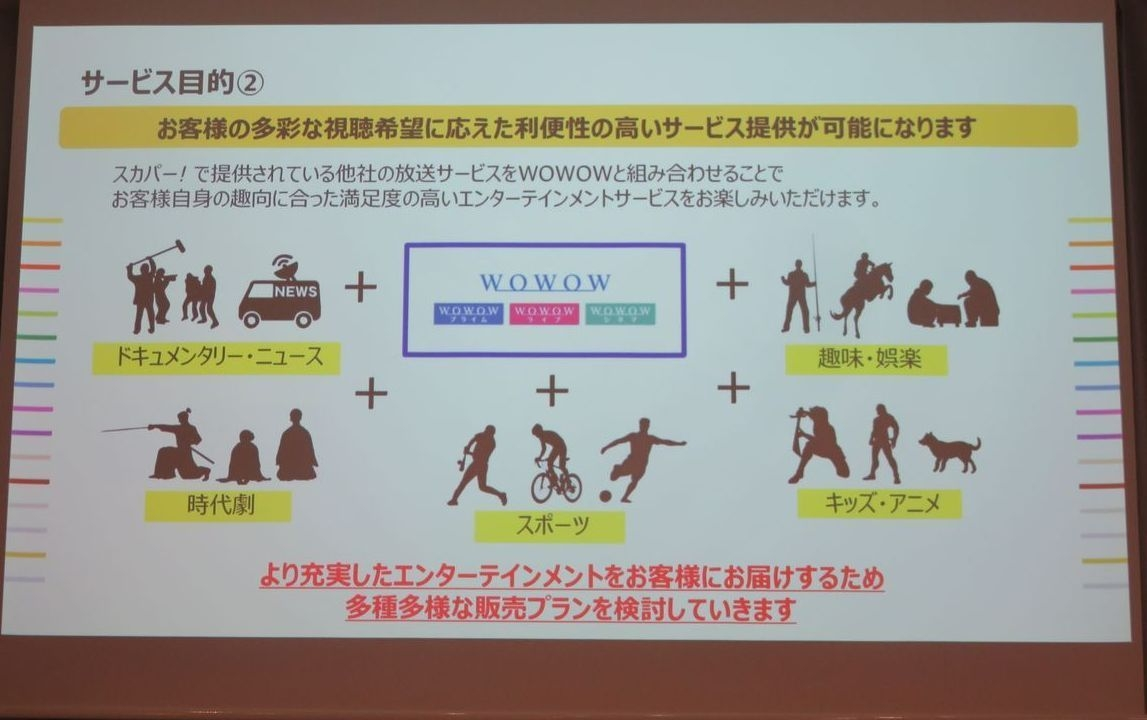 WOWOWがスカパー!を通じて放送を開始する目的(2) (出所:WOWOW)
