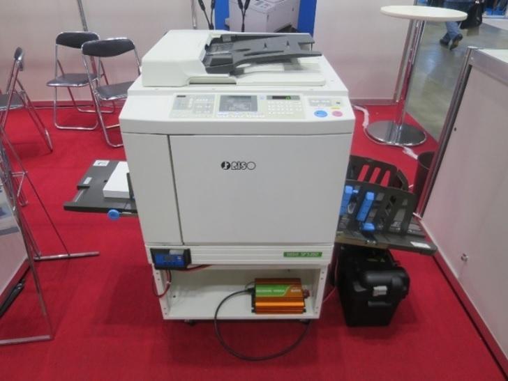 理想科学工業(RISO)は米ぬか由来のインクを使うプリンターを展示した