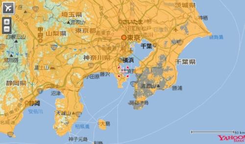 ソフトバンクの復旧エリアマップ(10日午前10時時点)。灰色のエリアが圏外になっている地域を示す