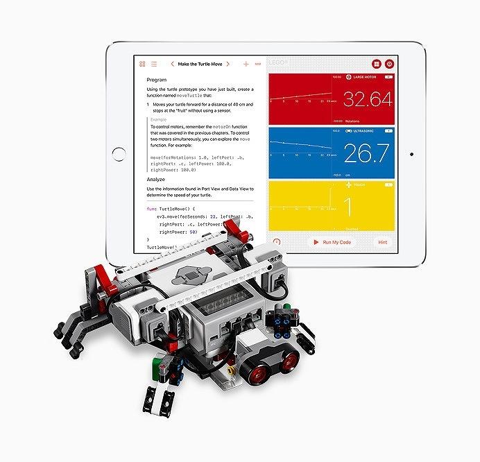 ロボットも操作できるアップルの「Swift Playgrounds」 (出所:米アップル)