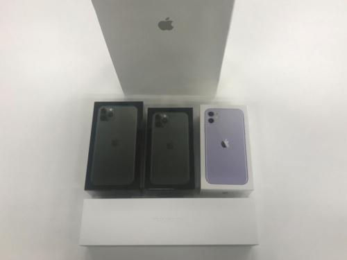 無事購入したiPhone3機種とApple Watch Series 5