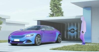 新製品の利用シーンの例。自動車ドアのロック解除。NXPのイメージ